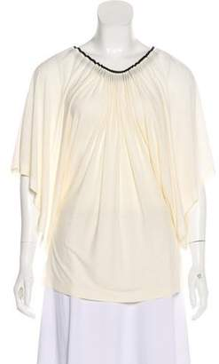 Jean Paul Gaultier Off-The-Shoulder Sheer Blouse