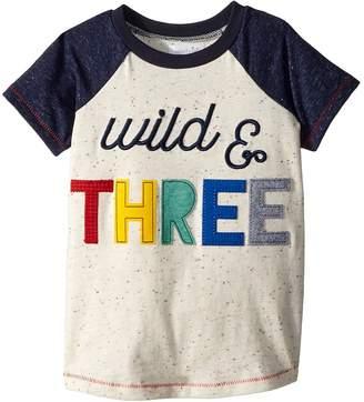 Mud Pie Wild and Three Short Sleeve Raglan Shirt Boy's Clothing