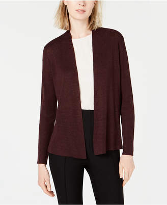 Eileen Fisher Organic Linen Open Cardigan, Regular & Petite