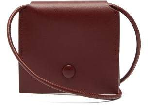 Acne Studios Square Leather Neck Pouch - Mens - Burgundy