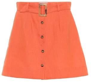 Lisa Marie Fernandez Linen miniskirt