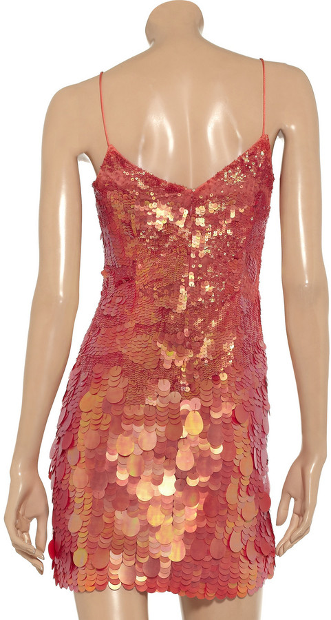 Theia Paillette-embellished mini dress