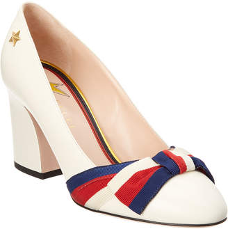 Gucci Grosgrain Bow Aline Leather Pump