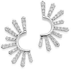 Bloomingdale's Diamond Half Starburst Drop Earrings in 14K White Gold, 0.50 ct. t.w. - 100% Exclusive