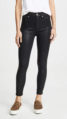 7 For All Mankind High Waisted Skinny Jeans With Faux Pockets