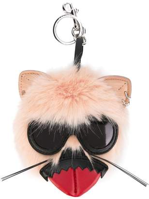 Stella McCartney punk tongue rabbit keyring