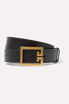 Givenchy Textured-leather Belt - Black