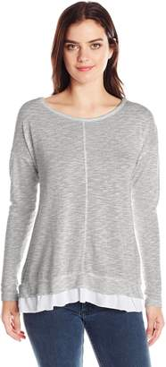 Mod-o-doc Women's Light Weight Slub Sweater, Grey, XS
