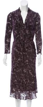 Vivienne Tam Velvet Midi Dress