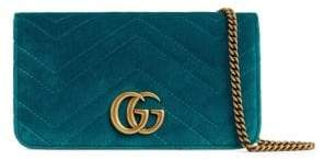 Gucci GG Marmont Velvet Wallet on Chain