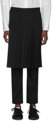 Robert Geller Black Linus Pleated Trousers