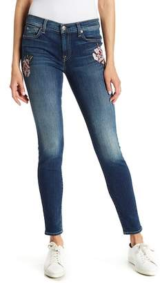 7 For All Mankind Patchwork Skinny Jeans