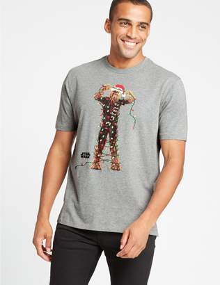 Marks and Spencer Star Wars Pure Cotton Christmas T-Shirt