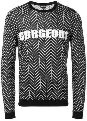 Giorgio Armani graphic print sweater