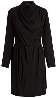 Vivienne Westwood Tondo Cowl Neck Draped Dress - Womens - Black