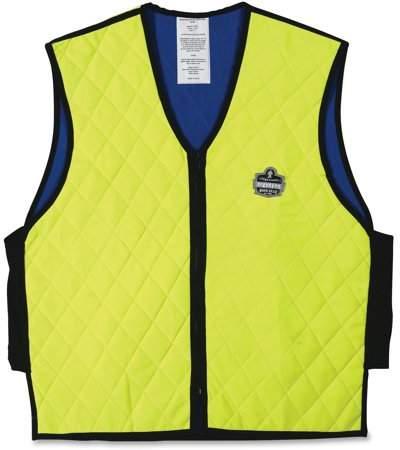Ergodyne Chill-Its 6665 Evaporative Cooling Vest - Lime, X-Large
