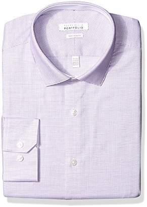 Perry Ellis Men's Slim Fit Performance Wrinkle Free Dress Shirt