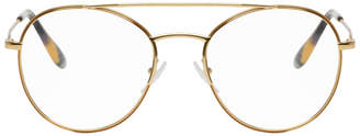 Prada Gold Double Bridge Optical Glasses