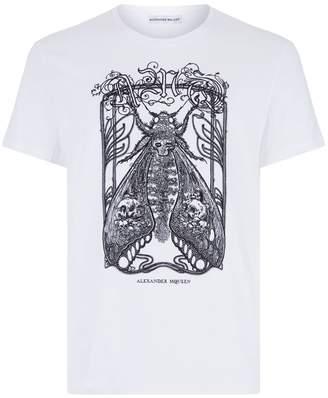 Alexander McQueen Moth Skull T-Shirt