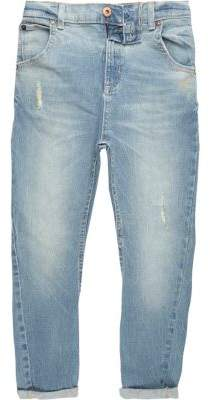River Island Boys light blue Tony slouch distressed jeans