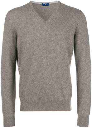 Barba cashmere v-neck jumper