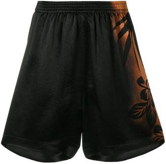 Maison Margiela floral gradient fitted shorts