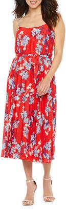 PREMIER AMOUR Premier Amour Sleeveless Pattern Shift Dress