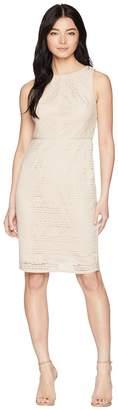 Adrianna Papell Petite Vintage Stripe Lace Sheath Dress Women's Dress