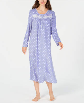 Charter Club Printed Thermal Fleece Nightgown
