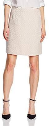 S'Oliver Premium Women's in Jacquardqualität Skirt, (Orange Dobby K1)