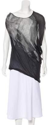Helmut Lang Oversize One-Shoulder Top