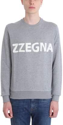 Ermenegildo Zegna Grey Cotton Sweatshirt