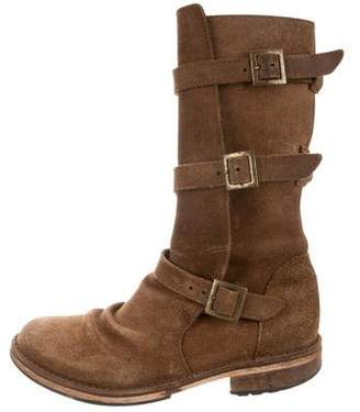 Fiorentini+Baker Suede Mid-Calf Boots