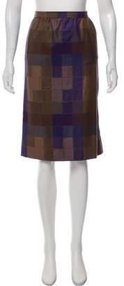 Christian Dior Knee-Length Plaid Skirt