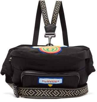 Gucci Loved Chenille Appliqued Belt Bag - Mens - Black