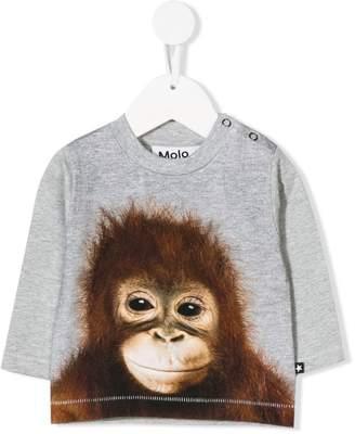Molo orangutan print bomber top