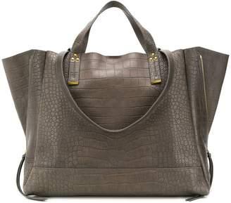 Jerome Dreyfuss crocodile style embossed tote bag