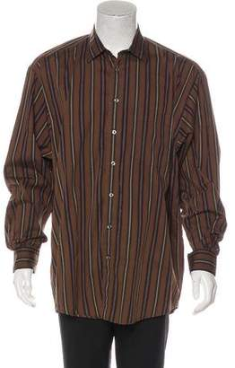 Burberry Woven Button-Up Shirt