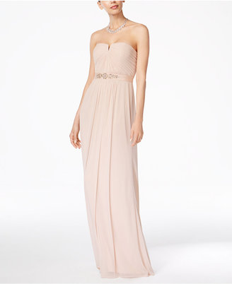 Adrianna Papell Strapless Ruched Gown $189 thestylecure.com