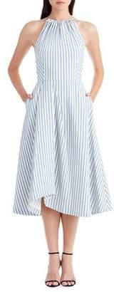 Jason Wu Sleeveless Shirting Fabric Apron Dress