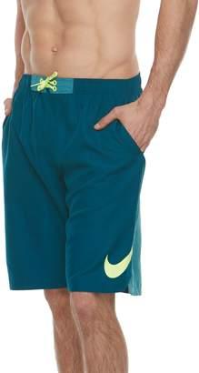 Nike Big & Tall Swim Swoosh Vortex Brushed Microfiber 11-inch Volley Shorts