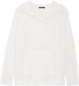 James Perse - Hooded Cashmere Sweater - Off-white $495 thestylecure.com