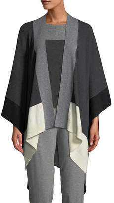 Eileen Fisher Colorblock Recycled Cashmere Serape Cardigan