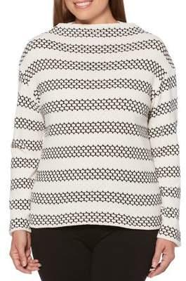 Rafaella Chain-Link Striped Pullover