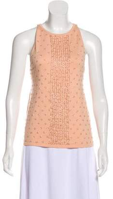 Magaschoni Embellished Tank Top w/ Tags
