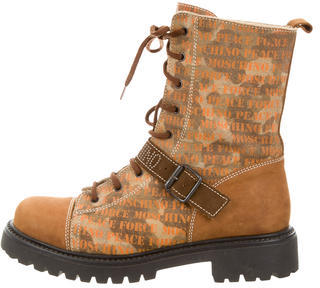 MoschinoMoschino Suede Lace-Up Boots