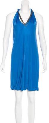 Yigal Azrouel Sleeveless Chain-Embellished Dress