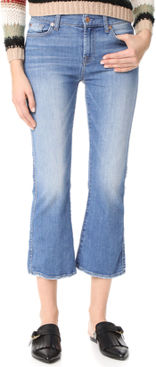 7 For All Mankind Cropped Boot Cut Jeans $199 thestylecure.com