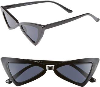 Leith Futuristic 55mm Cat Eye Sunglasses