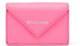 Balenciaga Paper Mini Leather Wallet - Womens - Pink